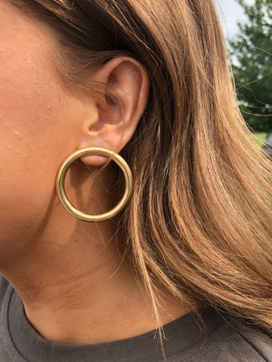 Brass Ring Earrings