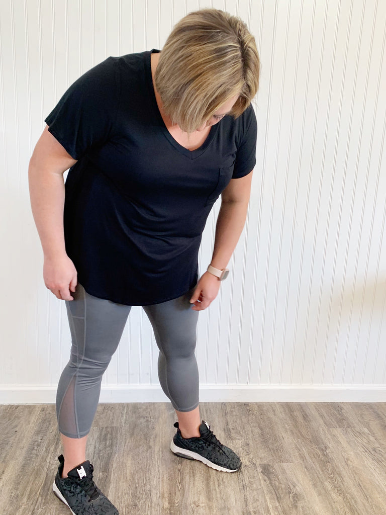 Highwaist Plus Charcoal Pocket Leggings