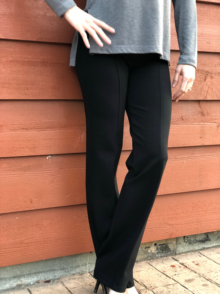 Slim Straight Pant in Charcoal