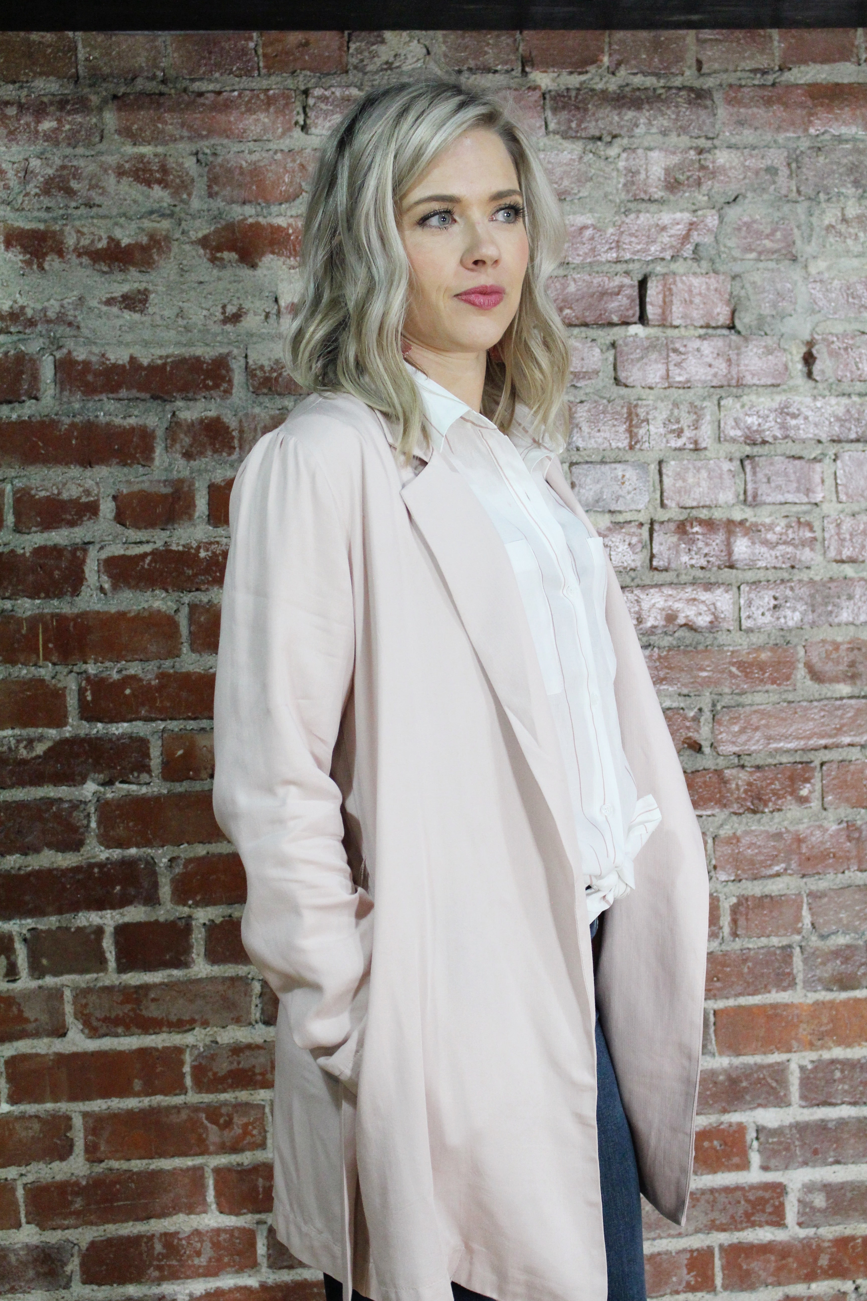 Rose Trench Coat