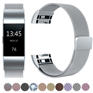 Fitbit Charge 2 Luxury Milanese Loop Band Strap
