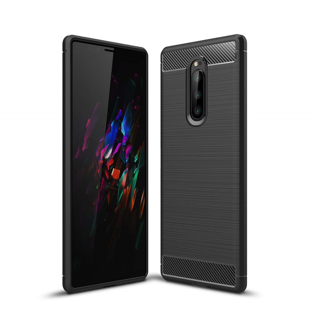Sony Xperia 1 Case Carbon Fibre Black