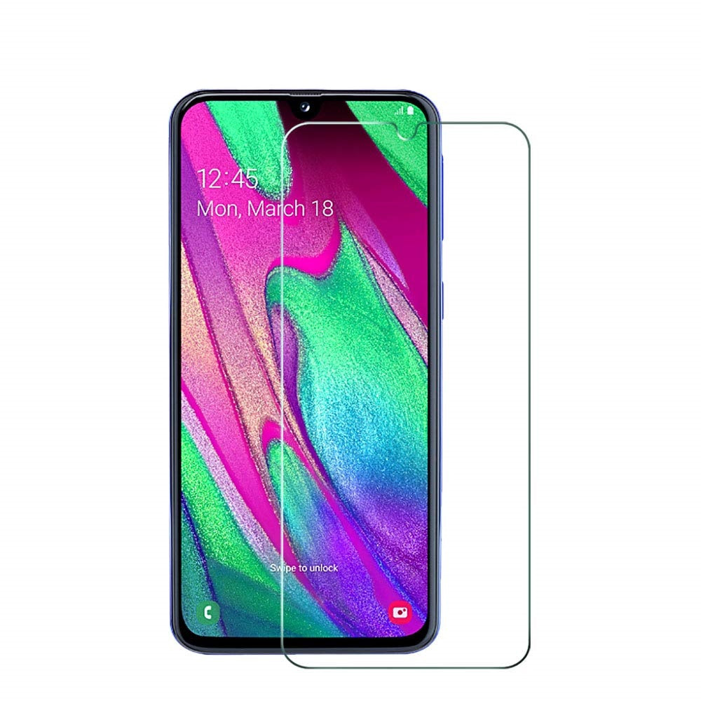 Samsung Galaxy A40 Tempered Glass Screen Protector Guard (Case Friendly)
