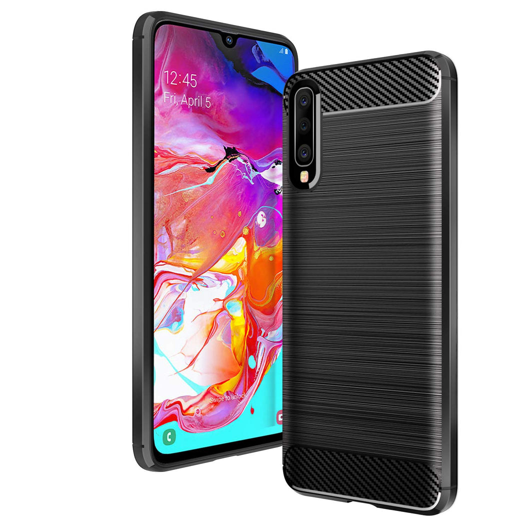 Samsung Galaxy A70 Case Carbon Fibre Black