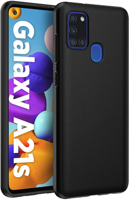 Samsung Galaxy A21s Case Soft Gel Matte Black
