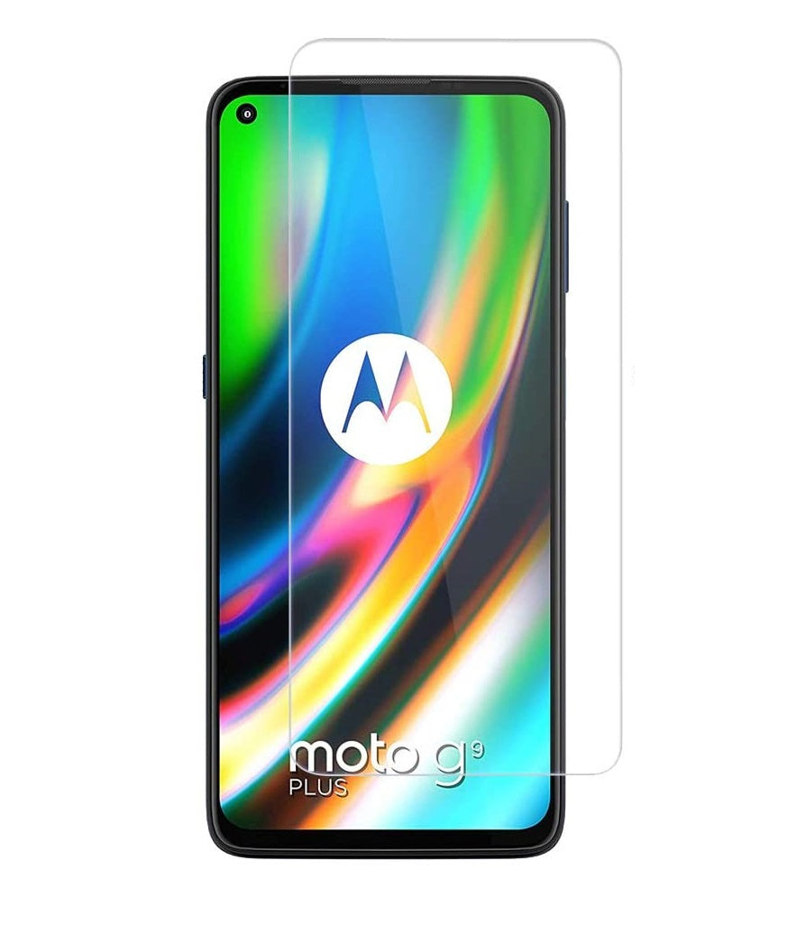 Motorola Moto G9 Plus Tempered Glass Screen Protector Guard (Case Friendly)