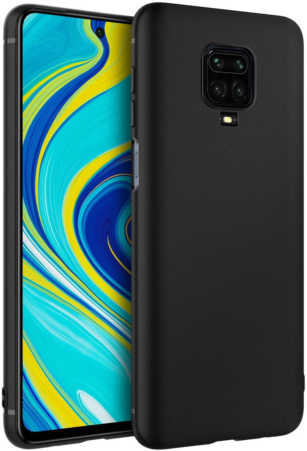 Xiaomi Redmi Note 9S Case Soft Gel Matte Black