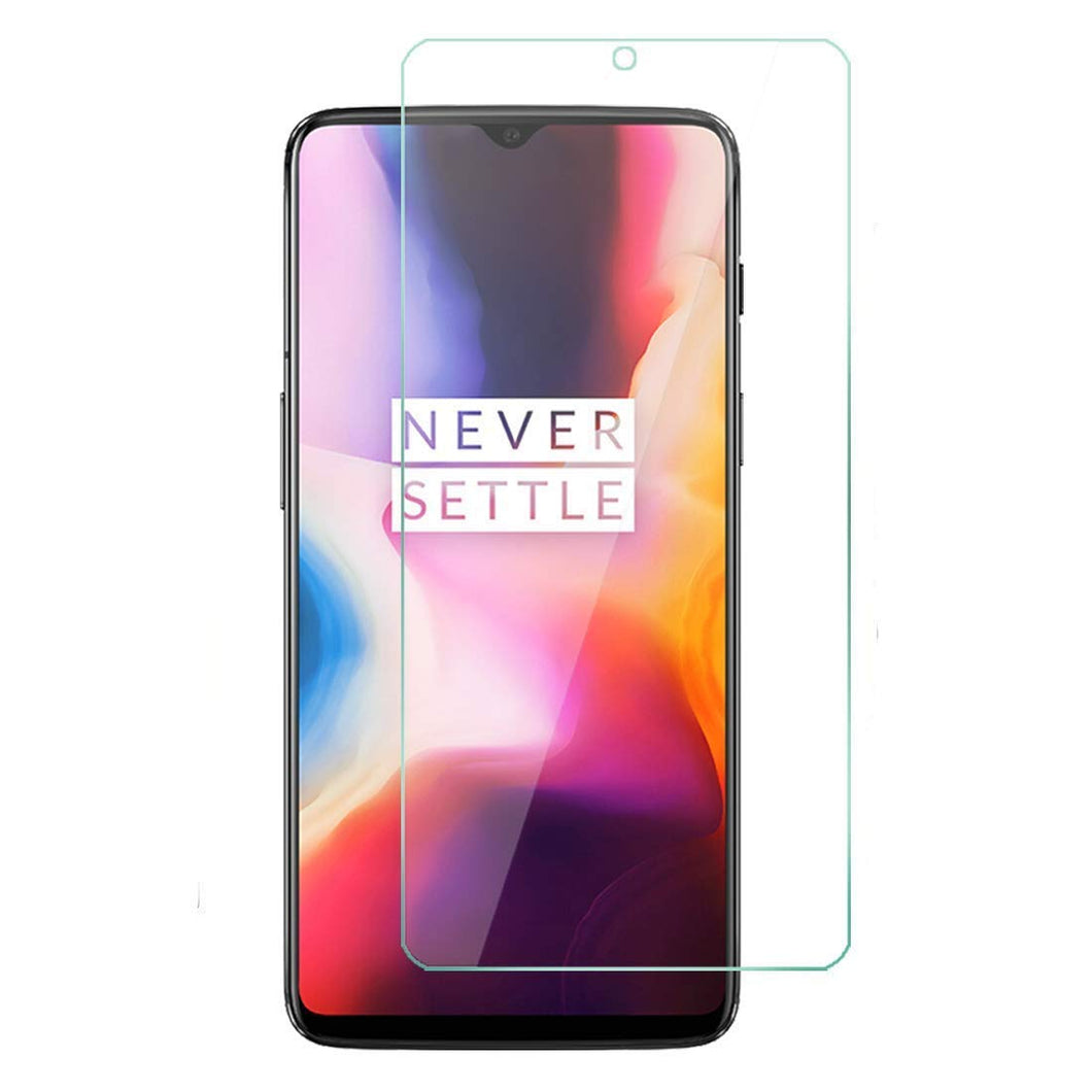 OnePlus 6T Tempered Glass Screen Protector Guard (Case Friendly)