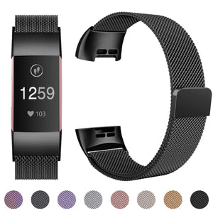 Fitbit Charge 3 / 4 Luxury Milanese Loop Band Strap