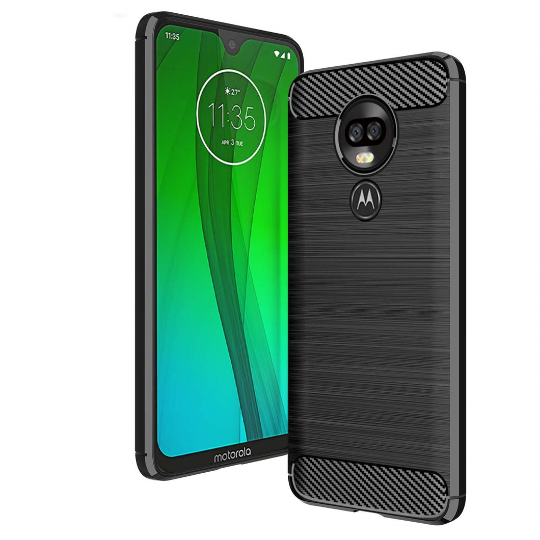 Motorola Moto G7 Plus Case Carbon Fibre Black