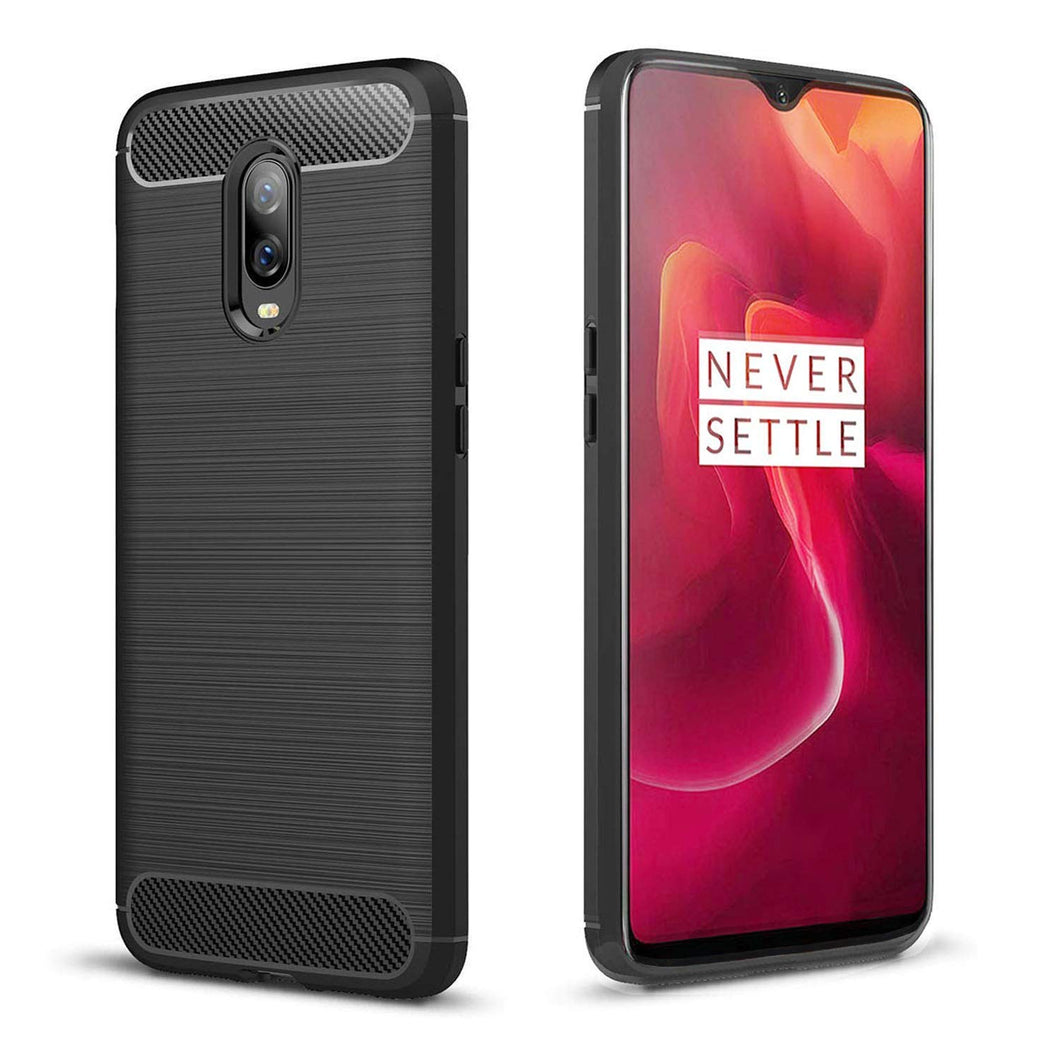 OnePlus 6T Case Carbon Fibre Black