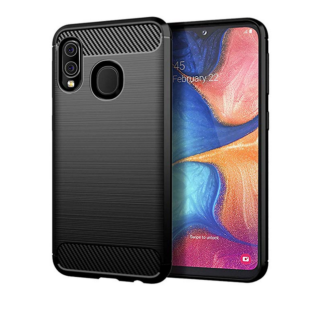 Samsung Galaxy A20e Case Carbon Fibre Black