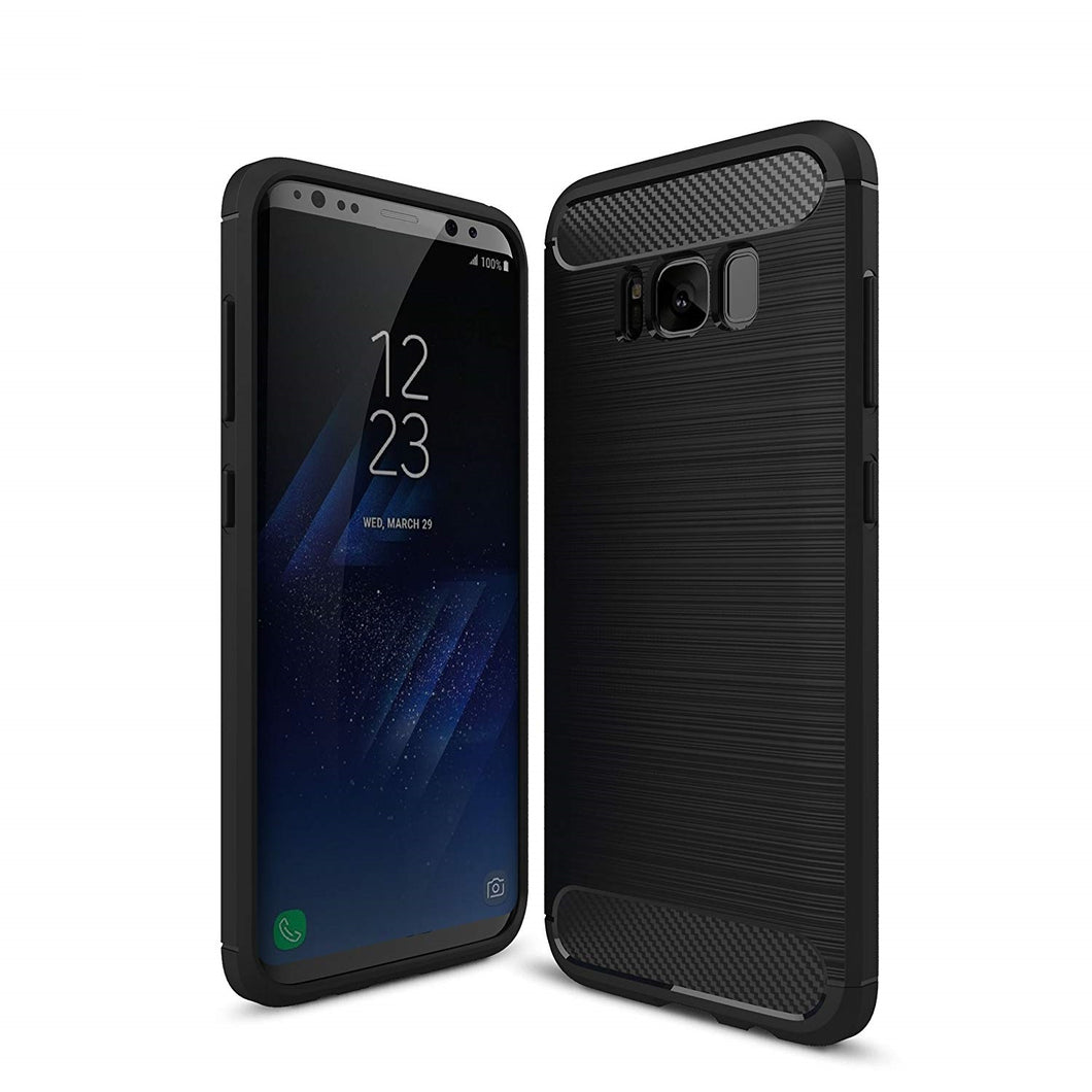 Samsung Galaxy S8+ Case Carbon Fibre Black