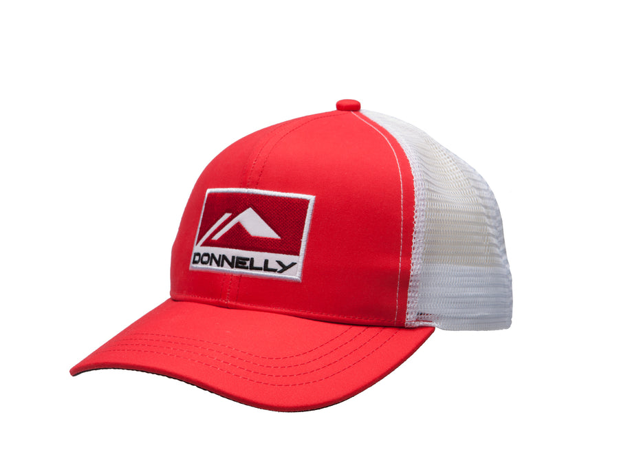 Donnelly Trucker Hat - Curved Bill, Red