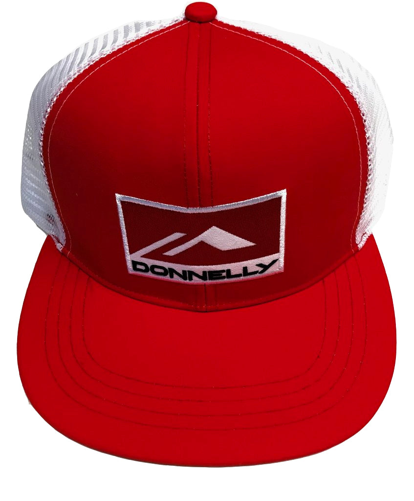 Donnelly Trucker Hat - Flat Bill, Red