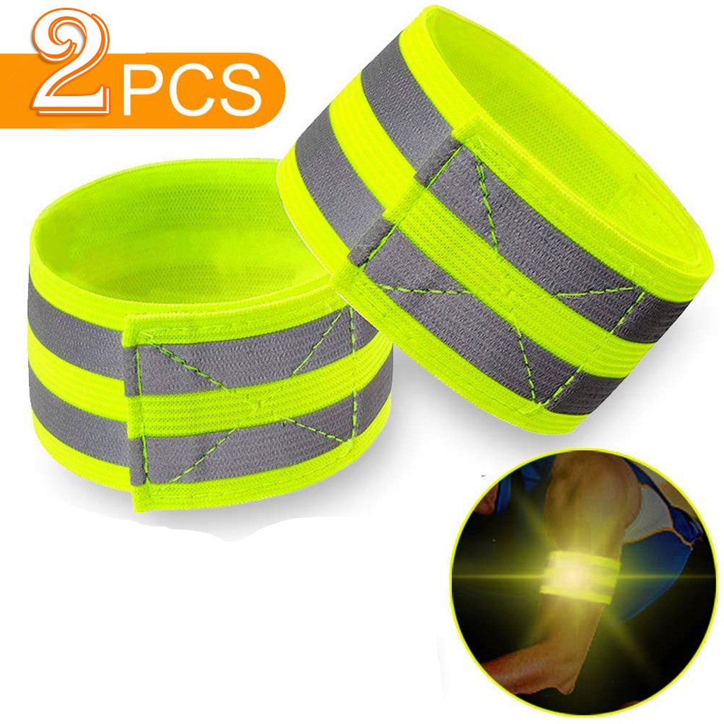 High Safety Visibility Reflective Security Wrist Belt For Night Running Walking