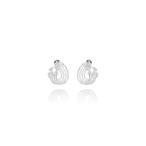m2l hold me tight crystal earring in sterling silver
