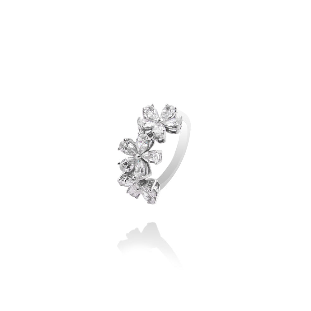 m2l florals in the air ring in sterling silver