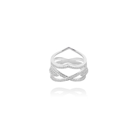M❣L Keep Me On Ring In Sterling Silver