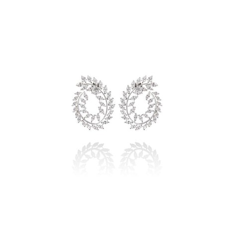m2l crystal wreath earring in sterling silver