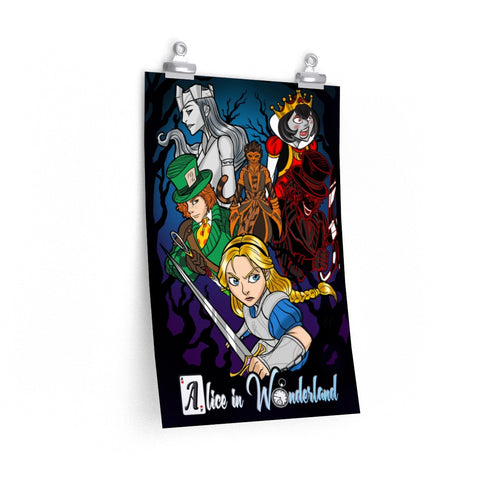 Legends Retold : Alice in Wonderland  Premium Matte vertical poster