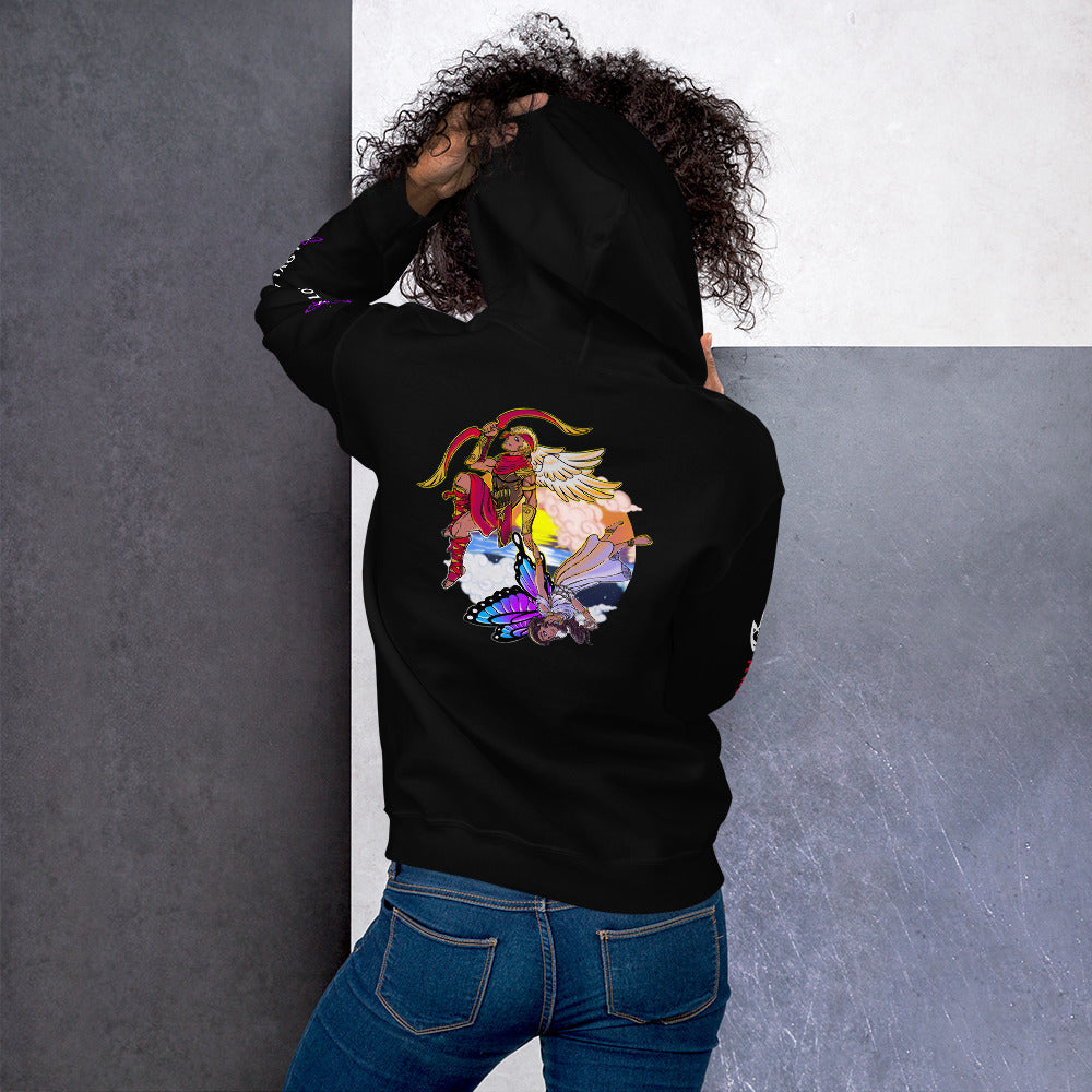 Legends Retold : The Tale of Cupid and Psyche-Greek mythology design  ( Unisex Hoodie )
