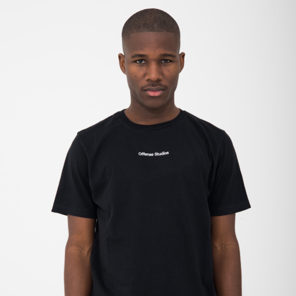 Embroidery Logo Black T-Shirt