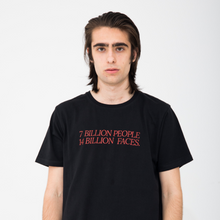 7 Billion People, 14 Billion Faces Black T-Shirt