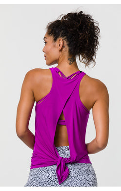 Tie Back Tank: Orchid