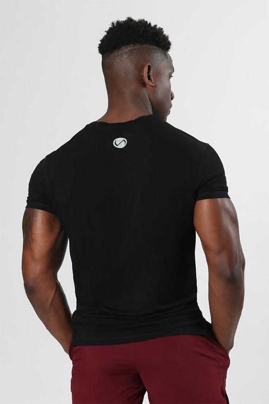 Root Performance Bamboo Crew Neck: Black