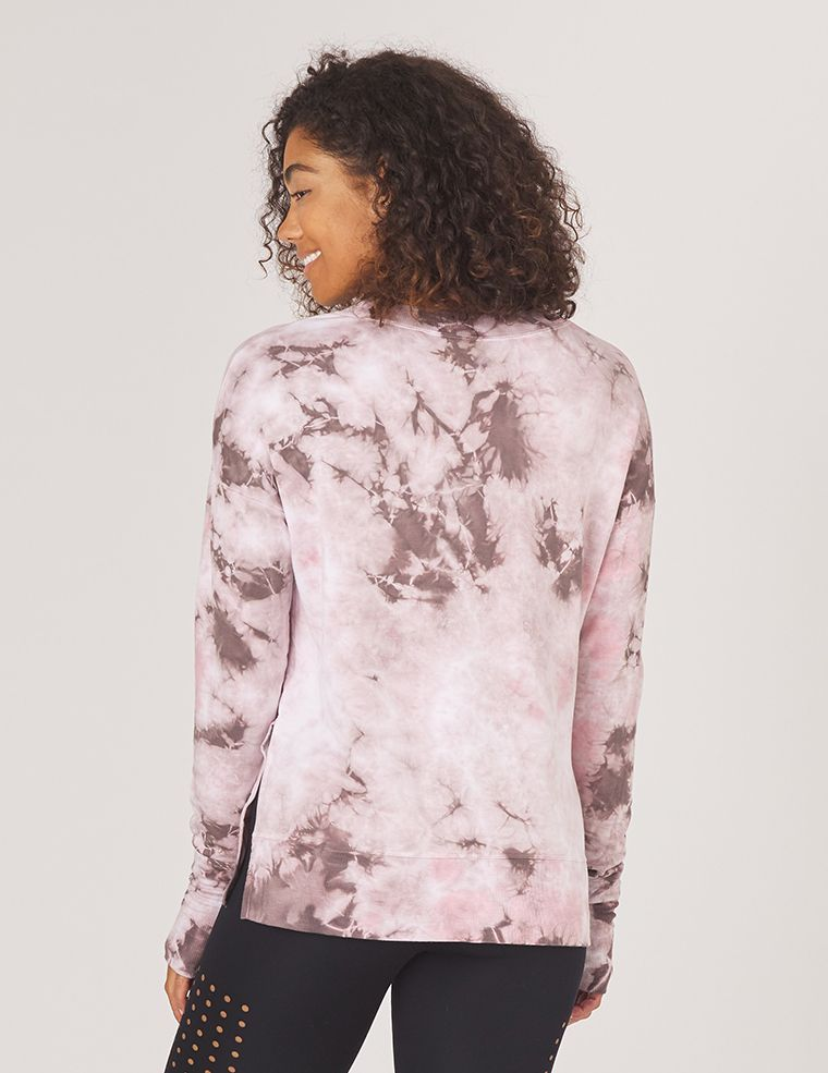 Lounge Sweater: Bone Tie Dye