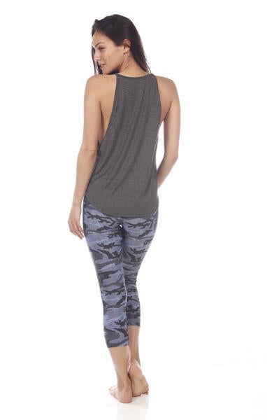 Elle Tank: Dark Grey