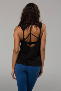Twist Back Top: Black
