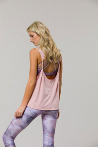 Twist Back Top: Blush