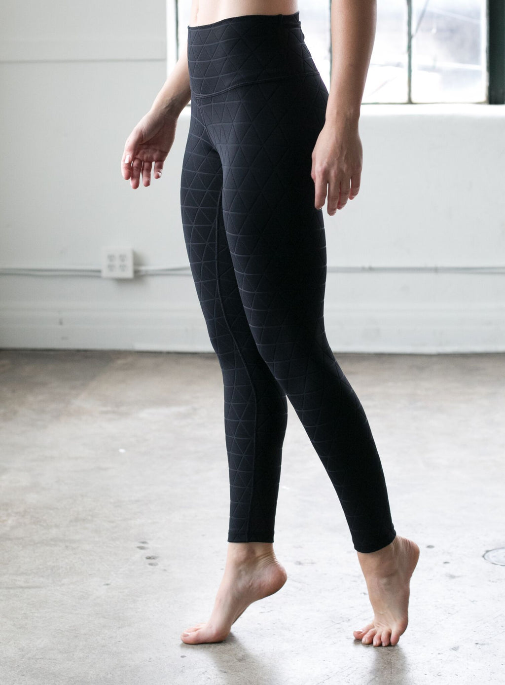 Quilted Legging: Black