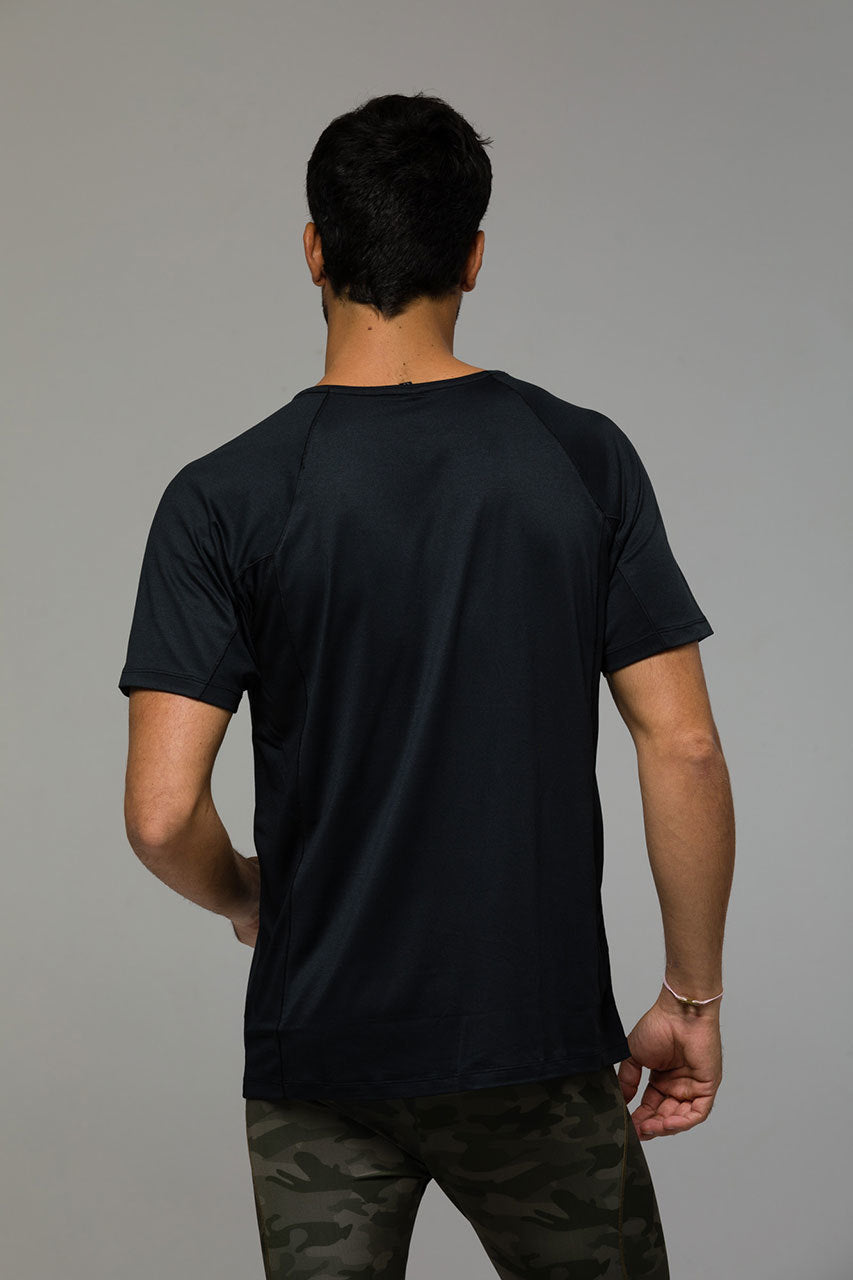 Raglan Short Sleeve: Black