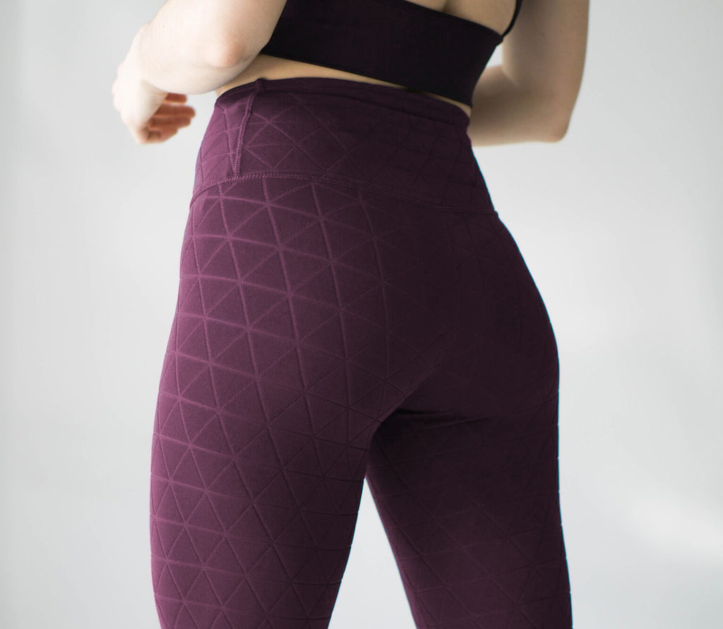 Quilted Legging: Burgundy