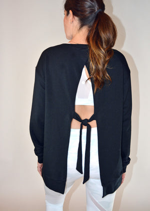 Soothe Open Tie Back Pullover