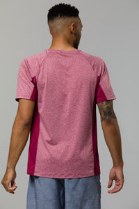 Raglan Short Sleeve: Crimson