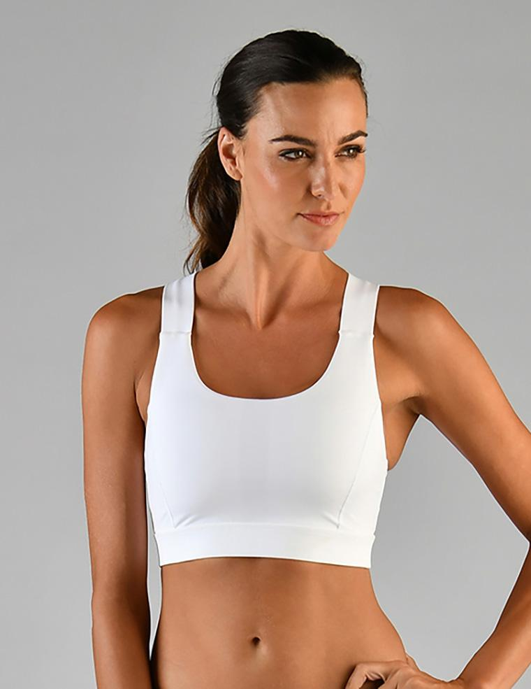 Full Force Bra: White