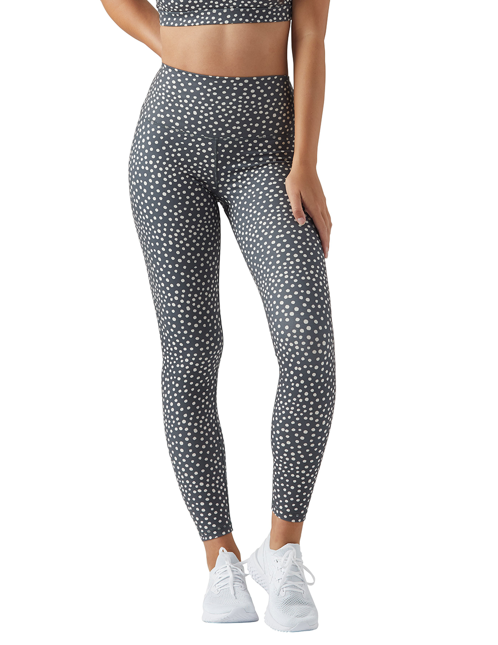 High Power Legging: Spotted Vintage Black