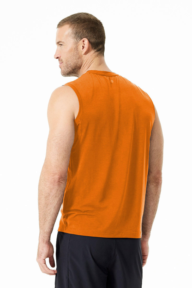 Solar 2.0 Sleeveless Tee: Orange