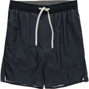 Trail Short: Navy Heather Texture