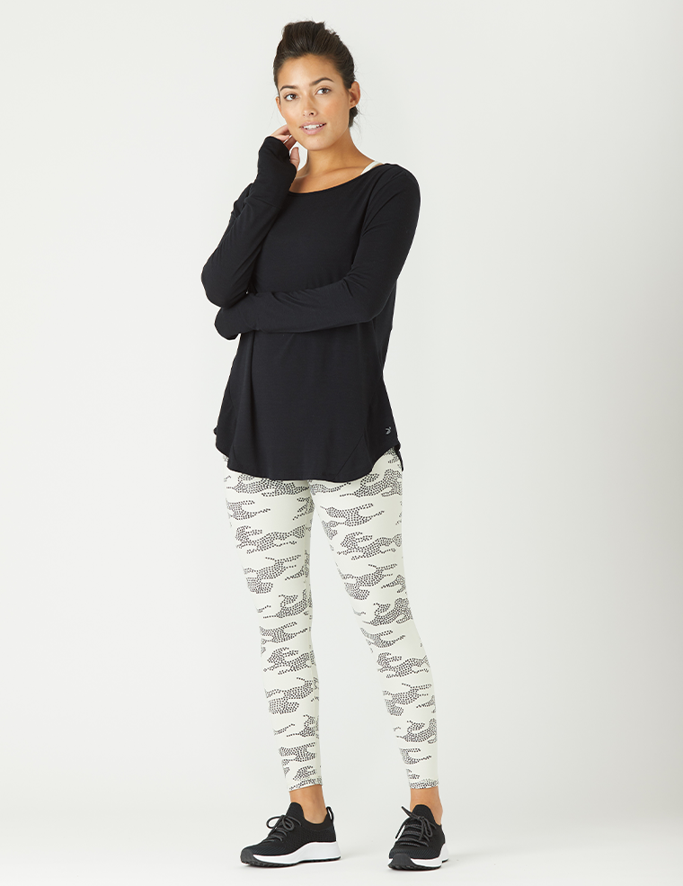 High Power Legging: Creme Star Camo