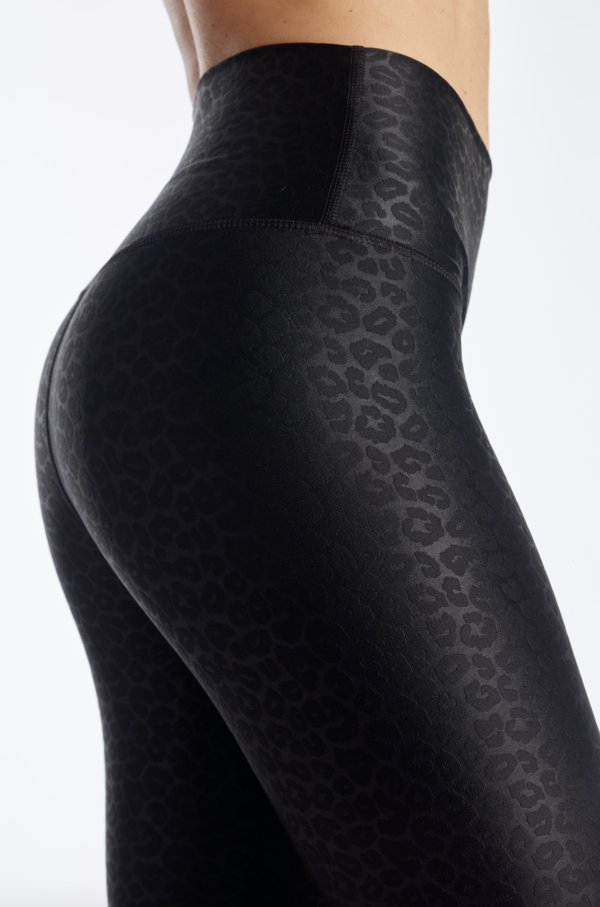 Embossed Black Leopard Tight
