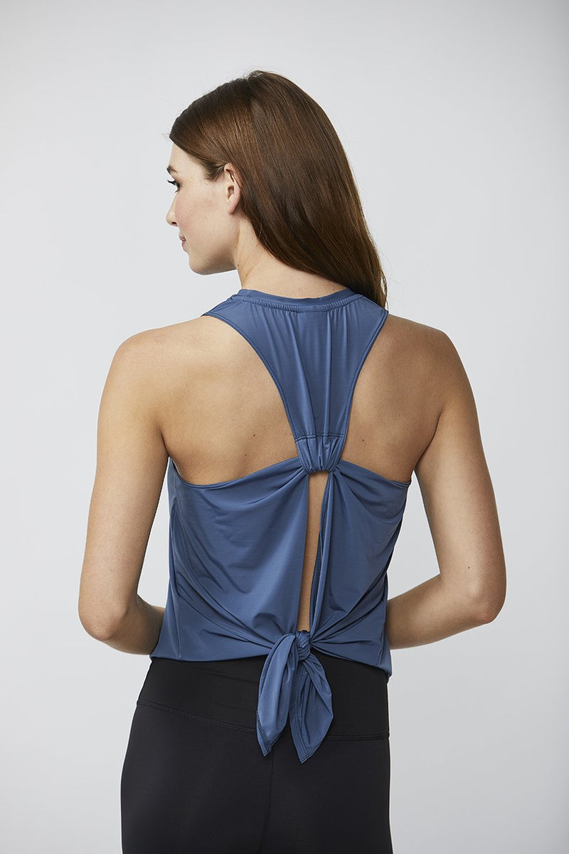 Tie Back Tank: Chambray