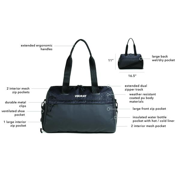 Trainer Duffel: Black Foil