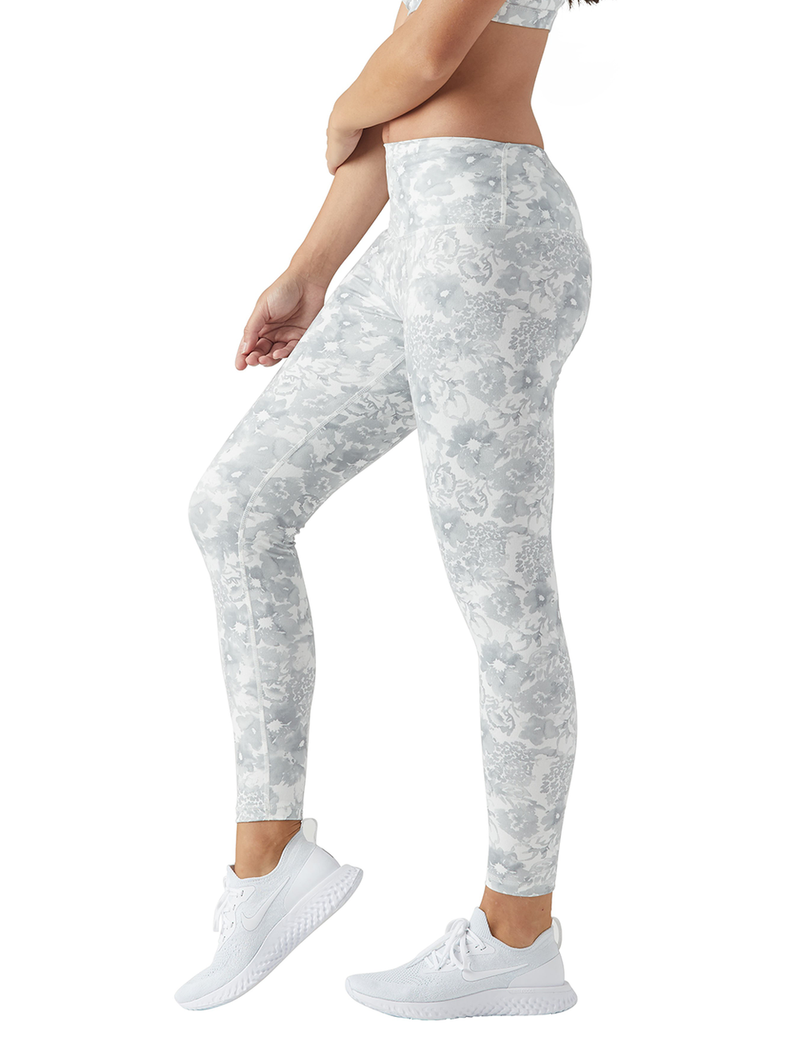 High Power Legging: White Spring Garden
