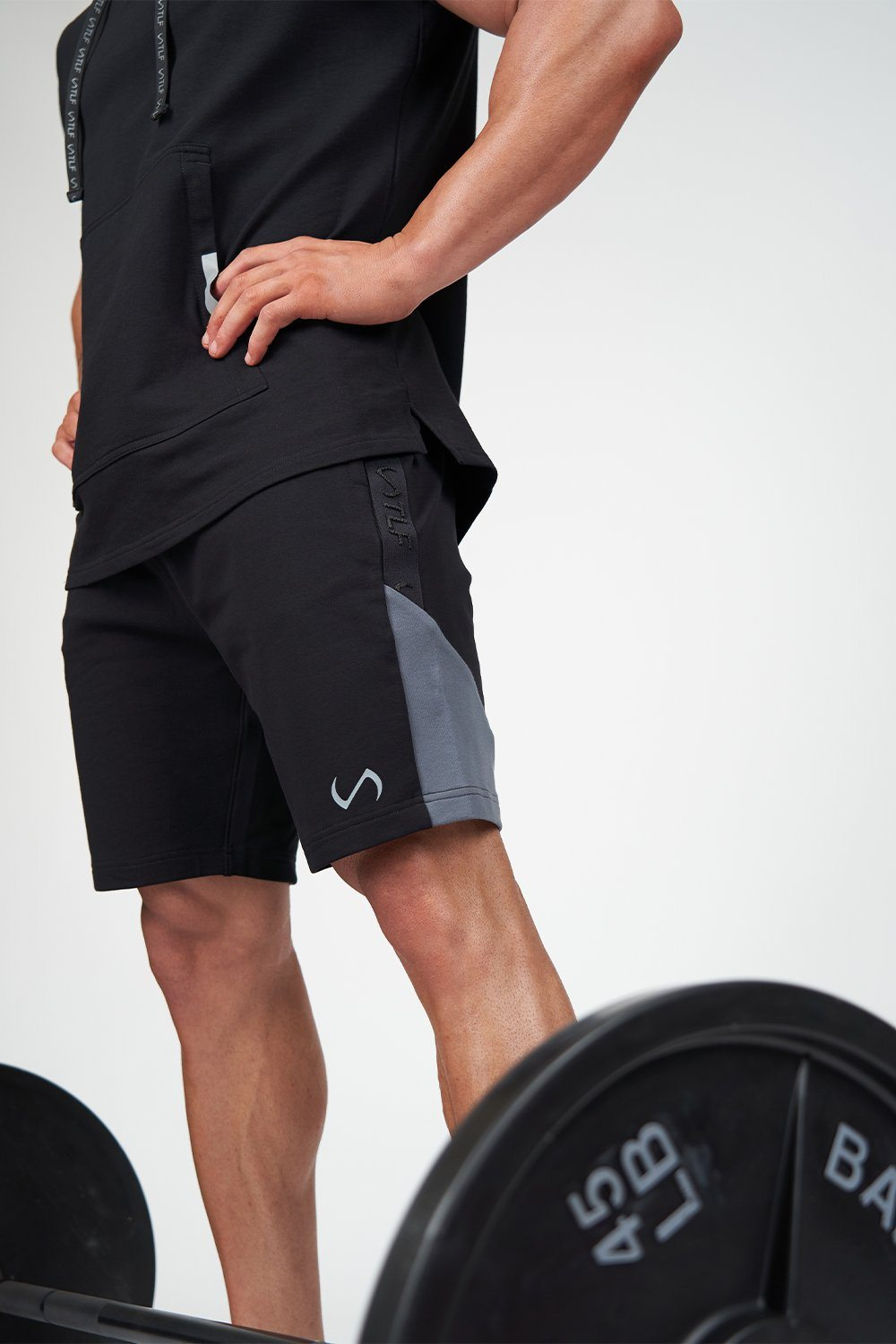 Air-Flex French Terry Short: Black