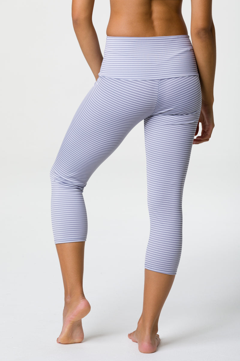 High Rise Capri: Fossil Stripe